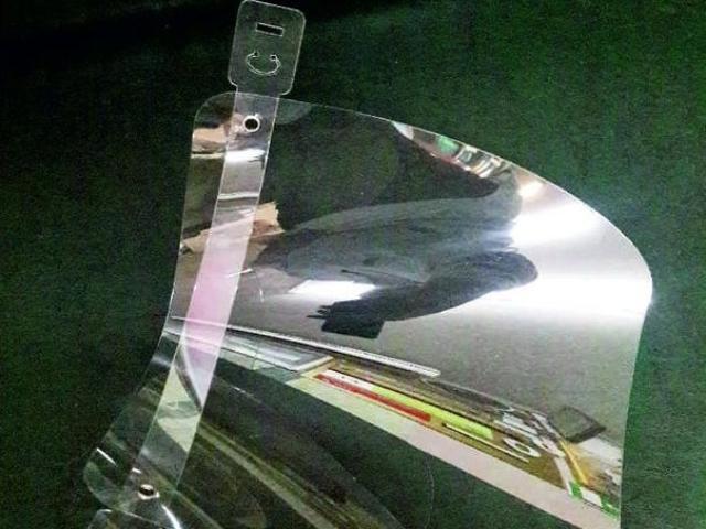 индивидуальный мобильный защитный Экран - защита лица человека Материал для Экрана- легкий прозрачный полимер